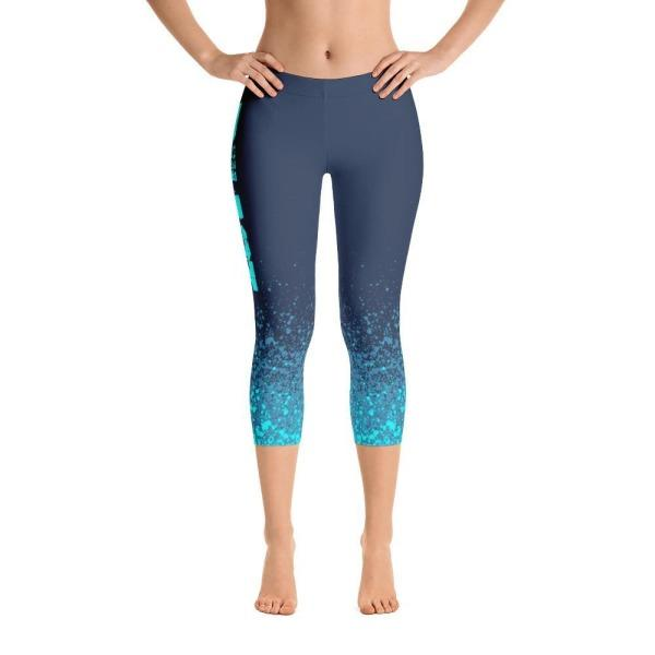 Beast Blue Splash - Active Gear Capri Tights