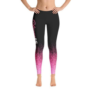 Strong Is The New Skinny Pink Splash - Active Gear Tights
