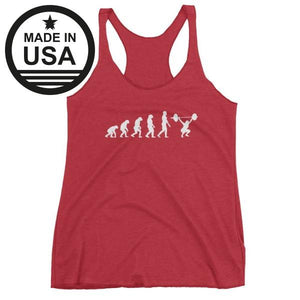 Evolution Of Woman - Racerback Tank Red / Xs