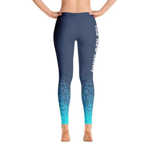 Strong Is The New Skinny Blue Splash - Active Gear Tights