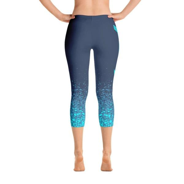 Rwf Blue - Active Gear Capri Tights