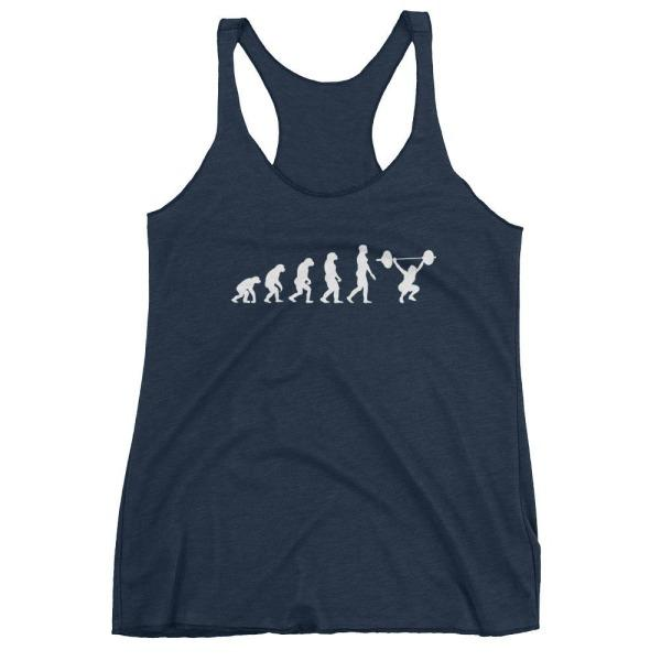 Evolution Of Woman - Racerback Tank Navy Blue / Xs