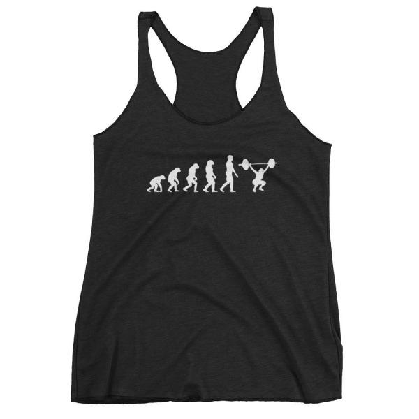 Evolution Of Woman - Racerback Tank Black / Xs
