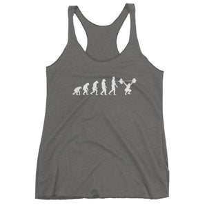 Evolution Of Woman - Racerback Tank Gray / Xs