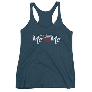 Its Just Me Vs - Racerback Tank Indigo / Xs