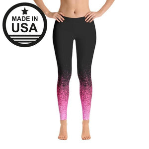 Pink Splash - Active Gear Tights Xs / Black