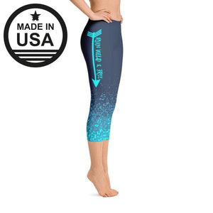 Rwf Blue - Active Gear Capri Tights Xs /