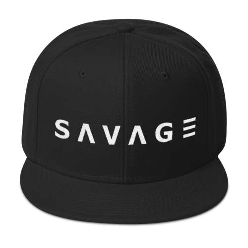 Savage Snapback Cap (Black)
