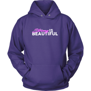Strong Is Beautiful - Hoodie Unisex / Purple S T-Shirt