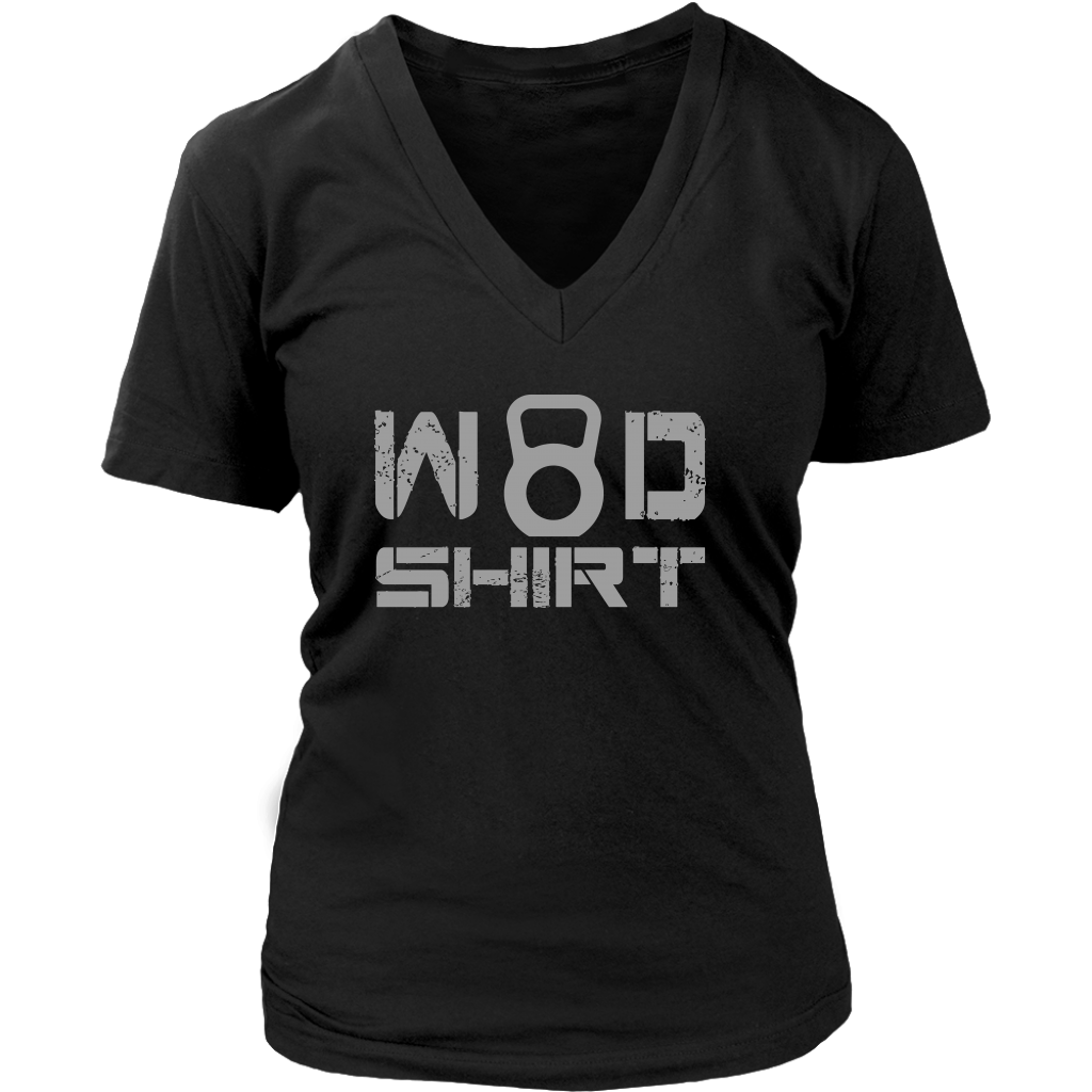 Wod Shirt - Womens Vneck District V-Neck / Black S T-Shirt