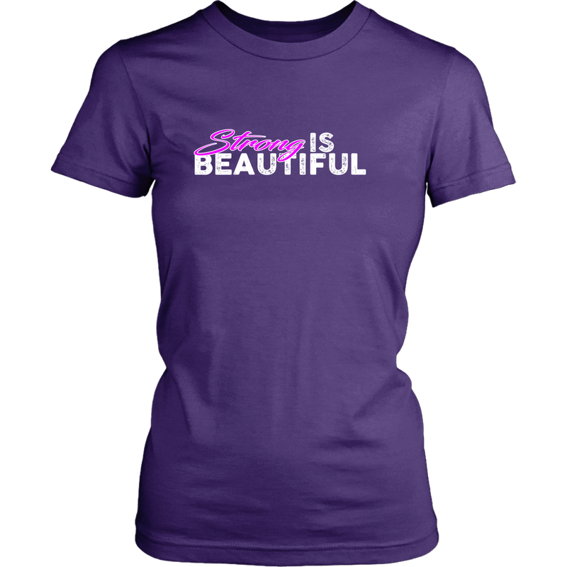Strong Is Beautiful - Womens Tshirt District Shirt / Purple Xs T-Shirt