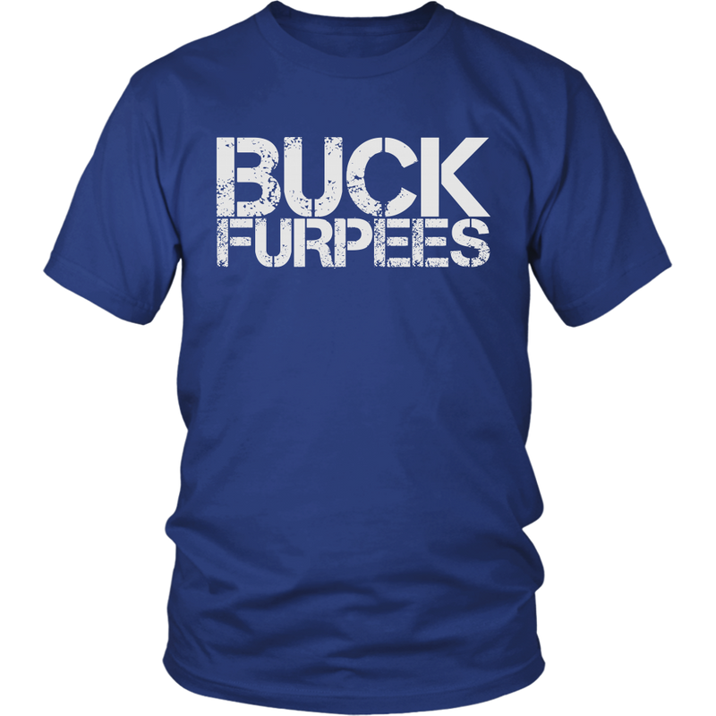 Buck Furpees - Mens Shirt Gildan Unisex / Dark Blue S T-Shirt