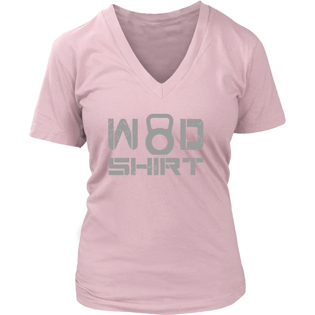 Wod Shirt - Womens Vneck District V-Neck / Pink S T-Shirt