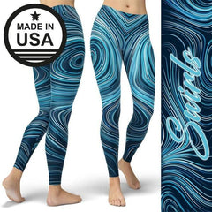 Swirls II - Active Gear Tights