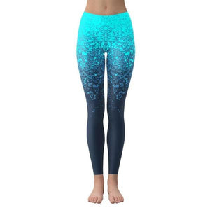 Blue Splash - Active Gear Tights