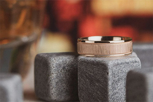 affluence solid rose gold wedding ring