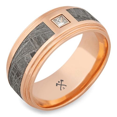 barclay solid rose gold wedding ring