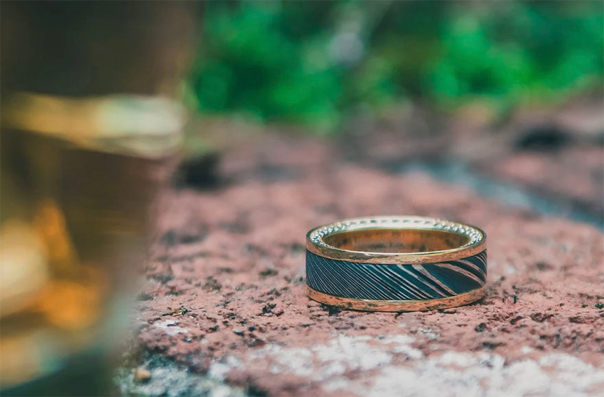 The Chaplin Solid Gold Wedding Ring