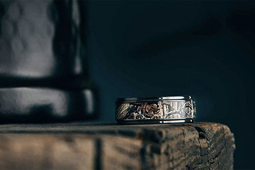 Corbett Black Zirconium Wedding Ring