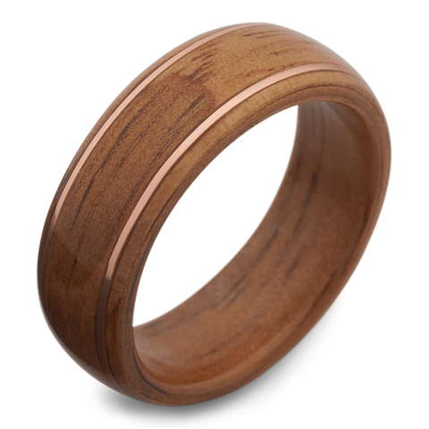 The Cousteau Wooden Wedding Band