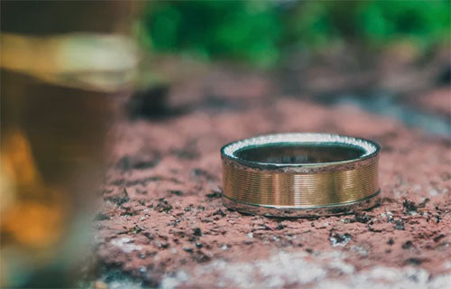 Diplomat Solid Gold Wedding Ring