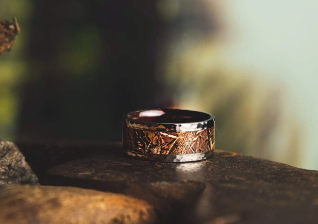 The Falconer Titanium Wedding Ring