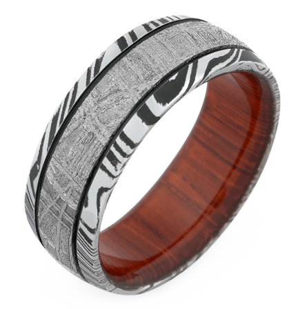The Mr. Swagger Damascus Steel Wedding Ring