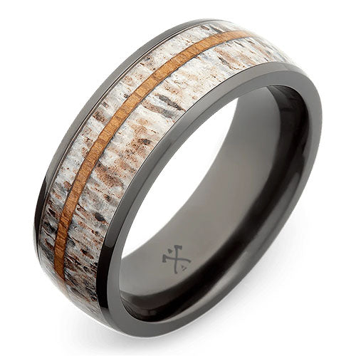 oryx black zirconium wedding ring