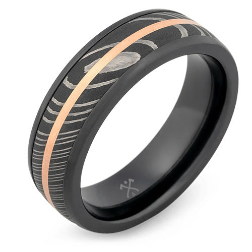socrates black zirconium wedding ring