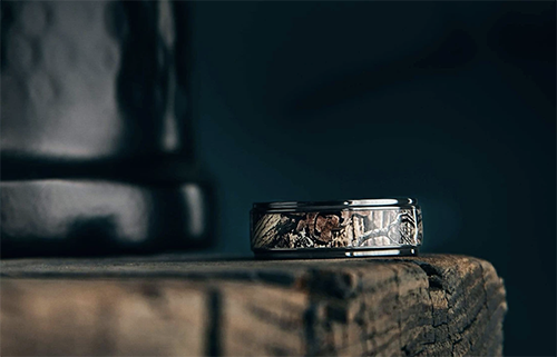 The Corbett Black Zirconium Wedding Ring