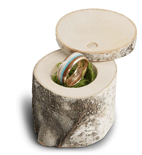 The Manly Birch Ring Box
