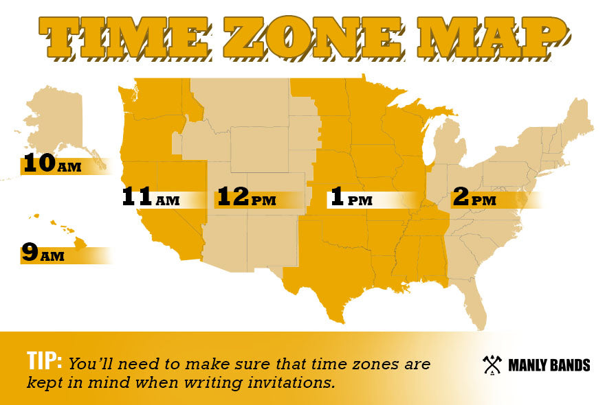 Time Zones Graphic