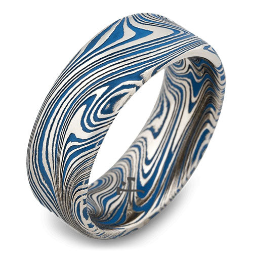 washington damascus steel wedding ring