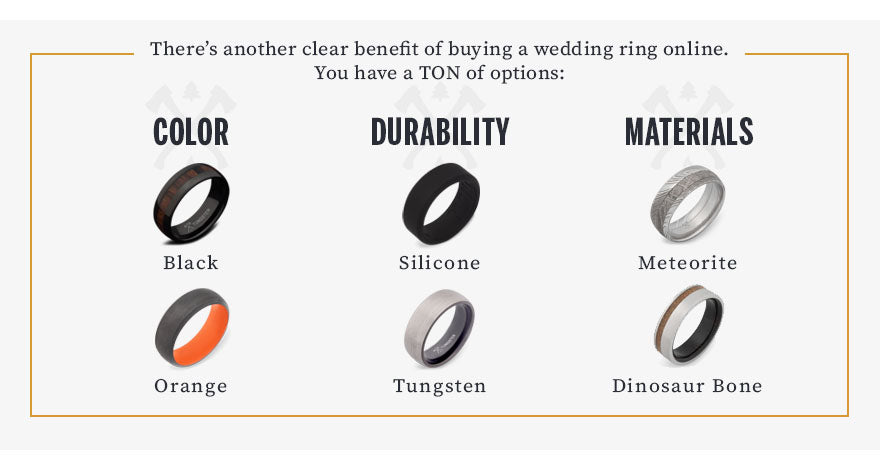 buying wedding rings online benefit graphic