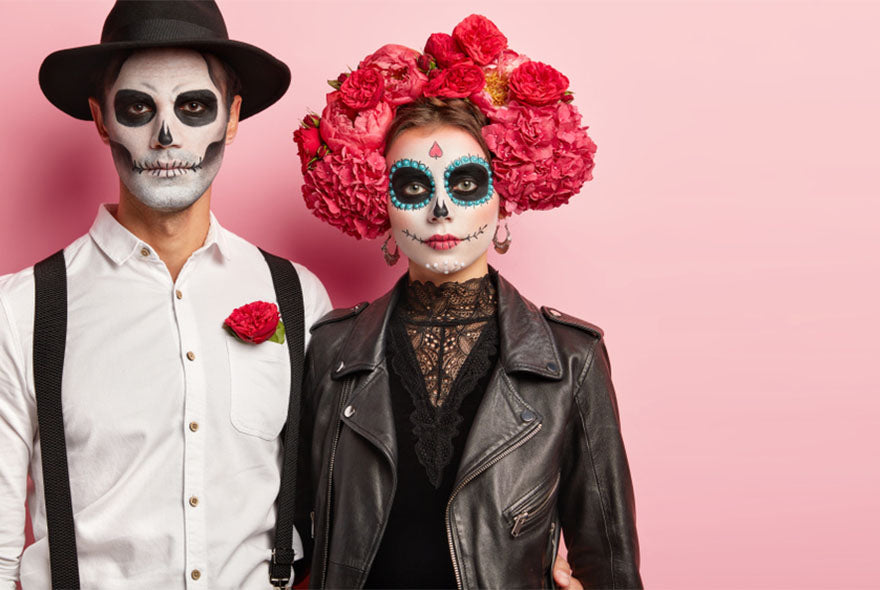 couple dressed up day of the dead