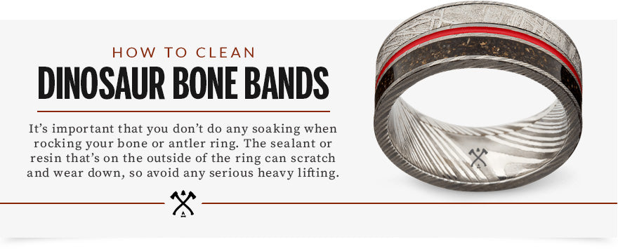 how to clean dinosaur bone bands graphic