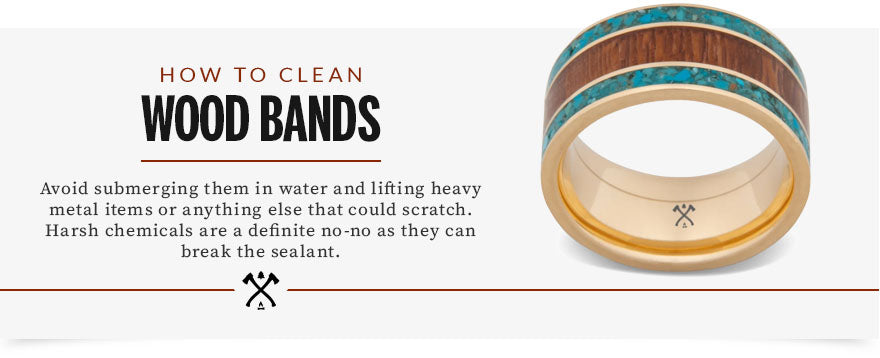 how to clean wood bands graphic