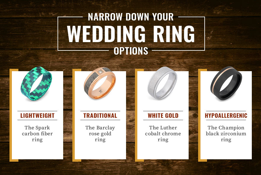 narrow down ring options graphic