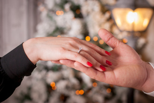 proposal to woman on christmas