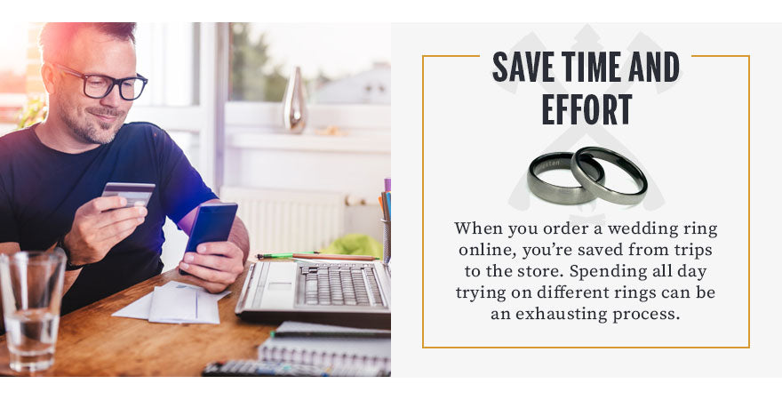 save time and effort shopping online graphic