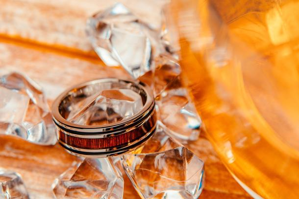 The Franklin Titanium Wedding Ring