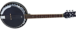 Ortega Six-string banjo with pickup OBJE350/6-SBK