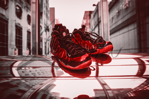 Nike Air Foamposite One Red Mirror