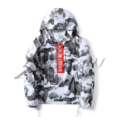 "OFF WHITE FW16 ""YOU CUT ME OFF""  [Buildings] WIND Resistant JACKET High End"