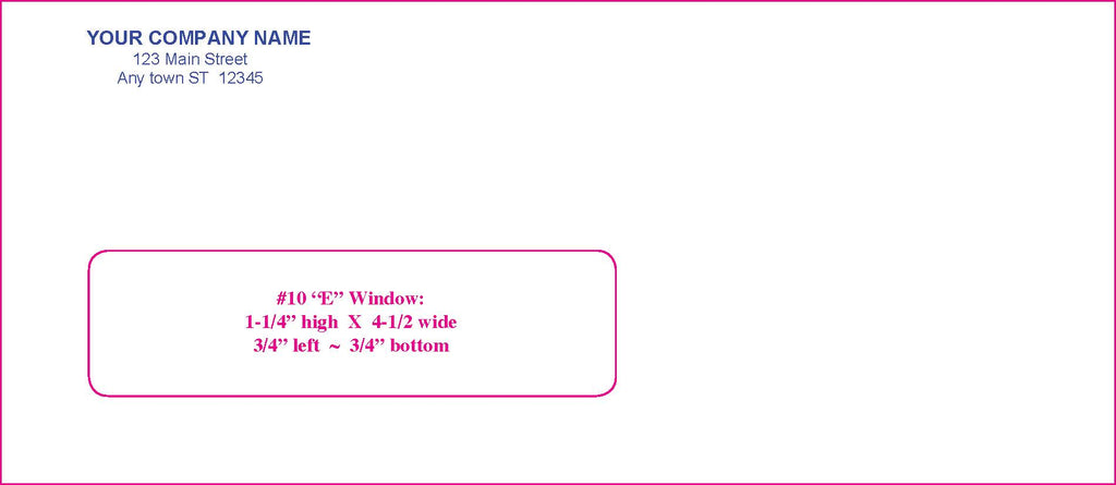 #10E Window Envelope