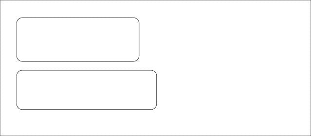 Double Window Envelope For QuickBooks and Quicken