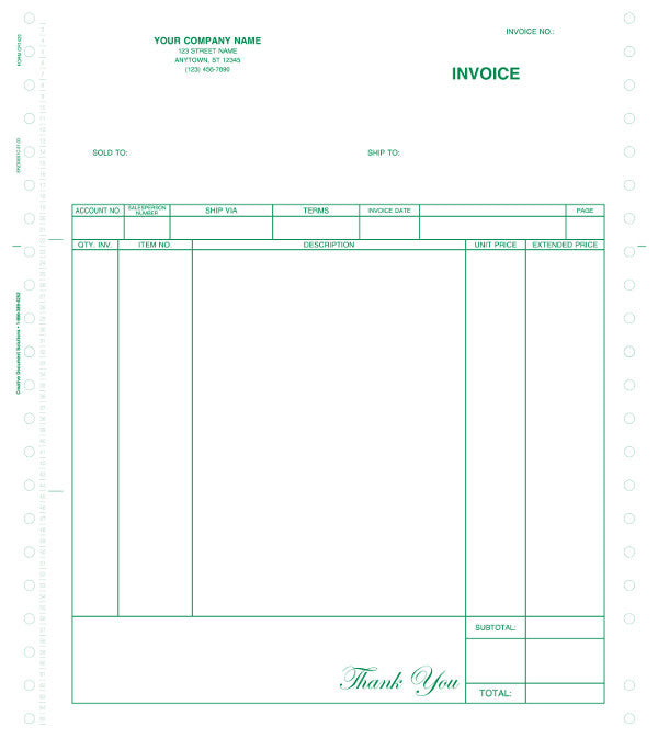 Great Plains Continuous A/R Invoice