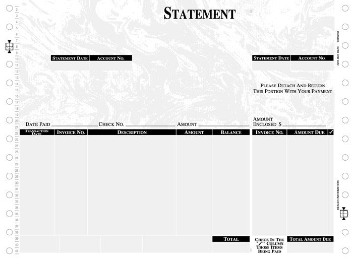 Mas 90 & Mas 200 Continuous Statement Form – Creative Document