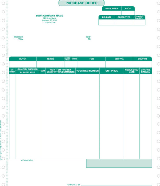 Macola 7 Continuous Purchase Order Form