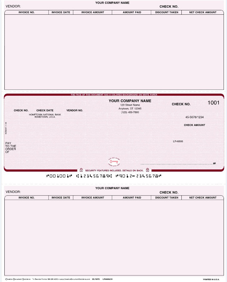 Macola 7 Laser Accounts Payable Check